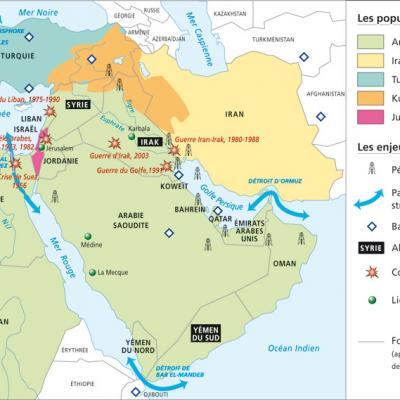 Moyen orient populations arabes iraniens turcs kurdes juifs conflits et crises 1